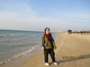 Dalia på Carmel Beach